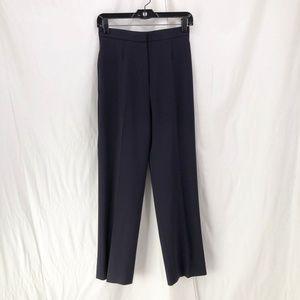 MAX MARA Navy Tessuto High Waist Crepe Pants